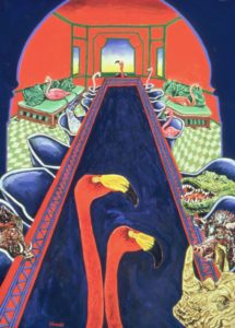 Harem Table, Flamingos, Eunuchs