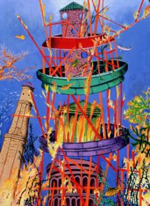 Tower of Babel, Flood, Fire, Fish