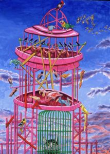 Tower of Babel IV, Birdcage and Cat