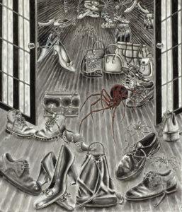 Closet-Big Red Spider