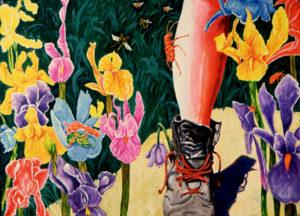 Boot and Broken Flower